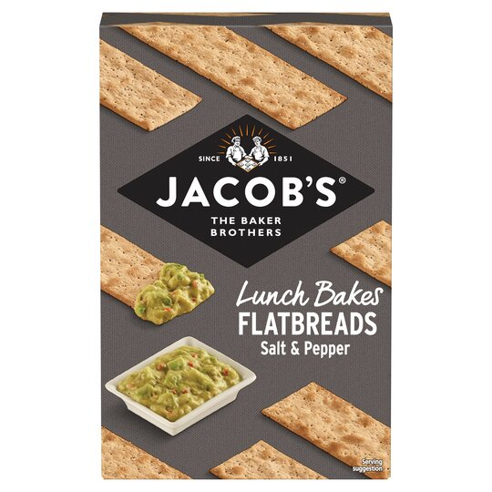 Jacobs Flatbread Salt & Cracked Black Pepper 150G