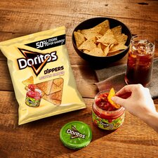 image 2 of Doritos Dippers Lightly Salted Tortilla Chips 270G