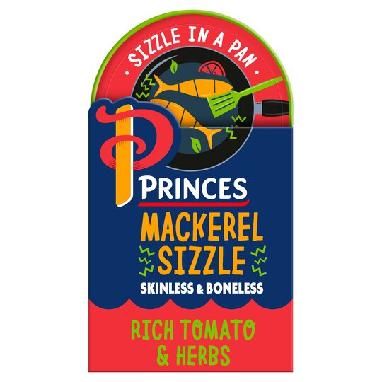 Princes Mackerel Sizzle Tomato & Herb 160G