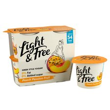 image 2 of Light & Free Greek Style Free Passion Fruit Yogurt 4X115g