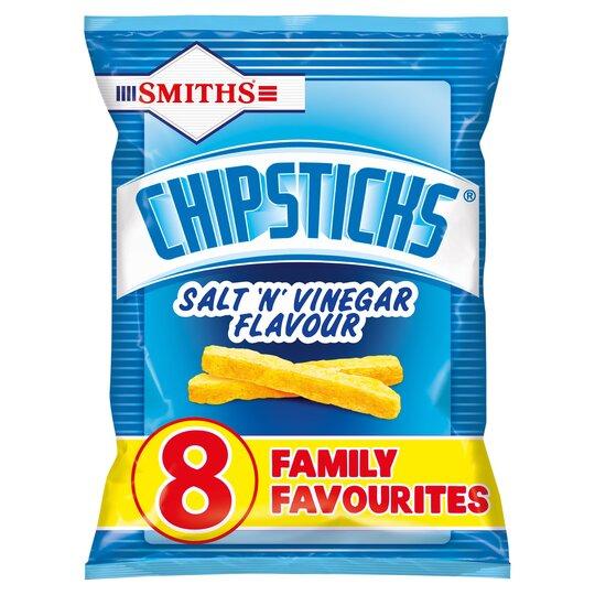 Smith's Chipsticks Salt & Vinegar 8 Pack