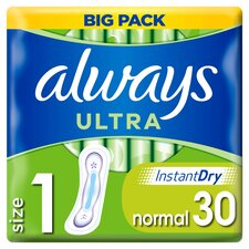 image 1 of Always Ultra Normal Size 1 Sanitary Towels 30