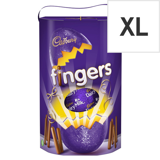 Cadbury Dairy Milk Chocolate Egg With Mini Fingers 237g