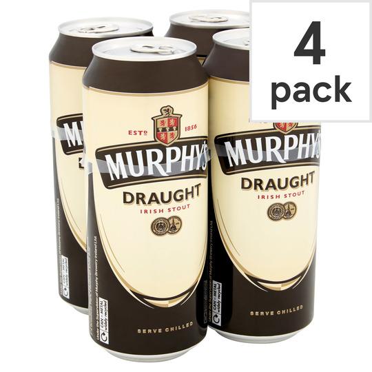 Murphys Draft Irish Stout Cans 4X440ml