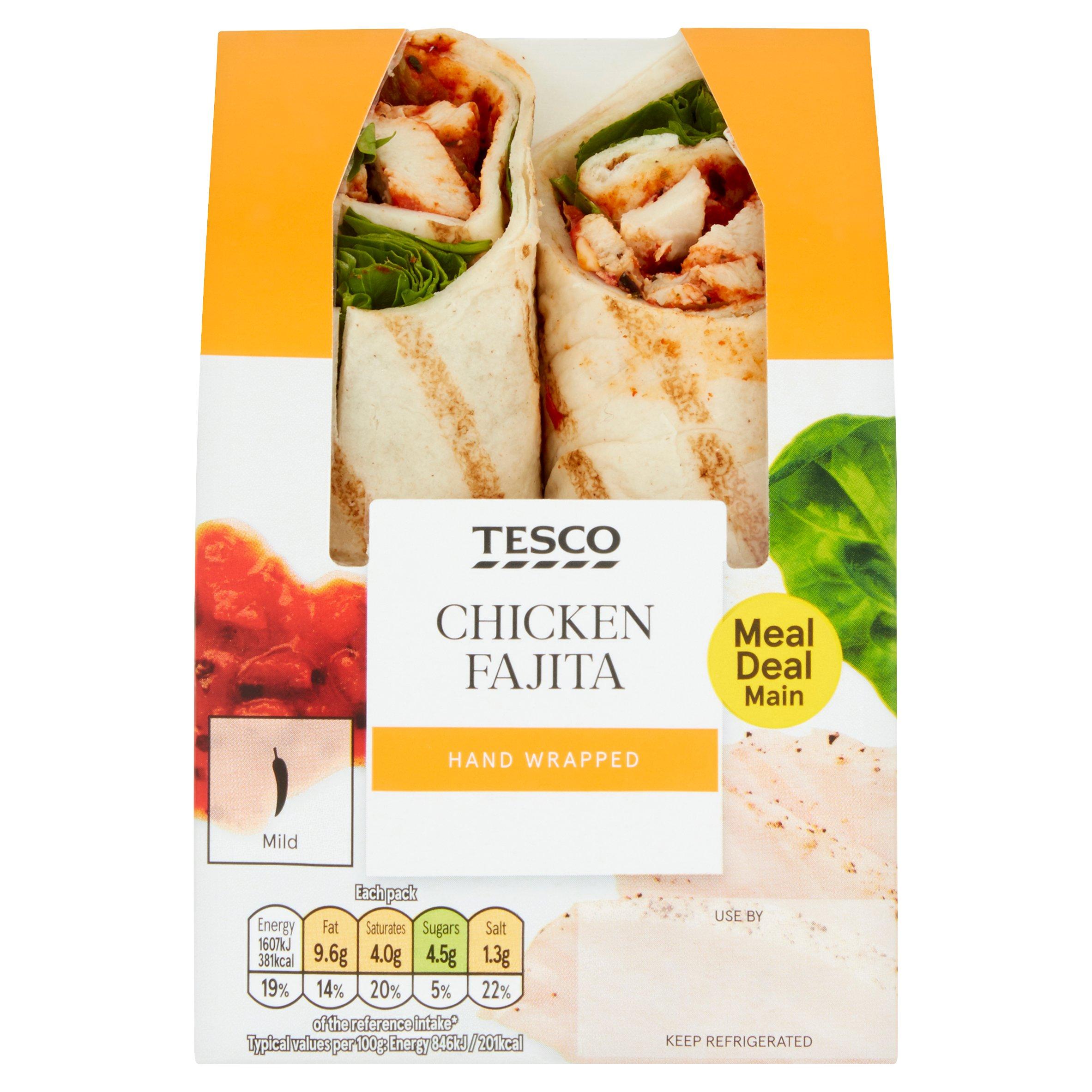 Tesco Fajita Chicken Wrap