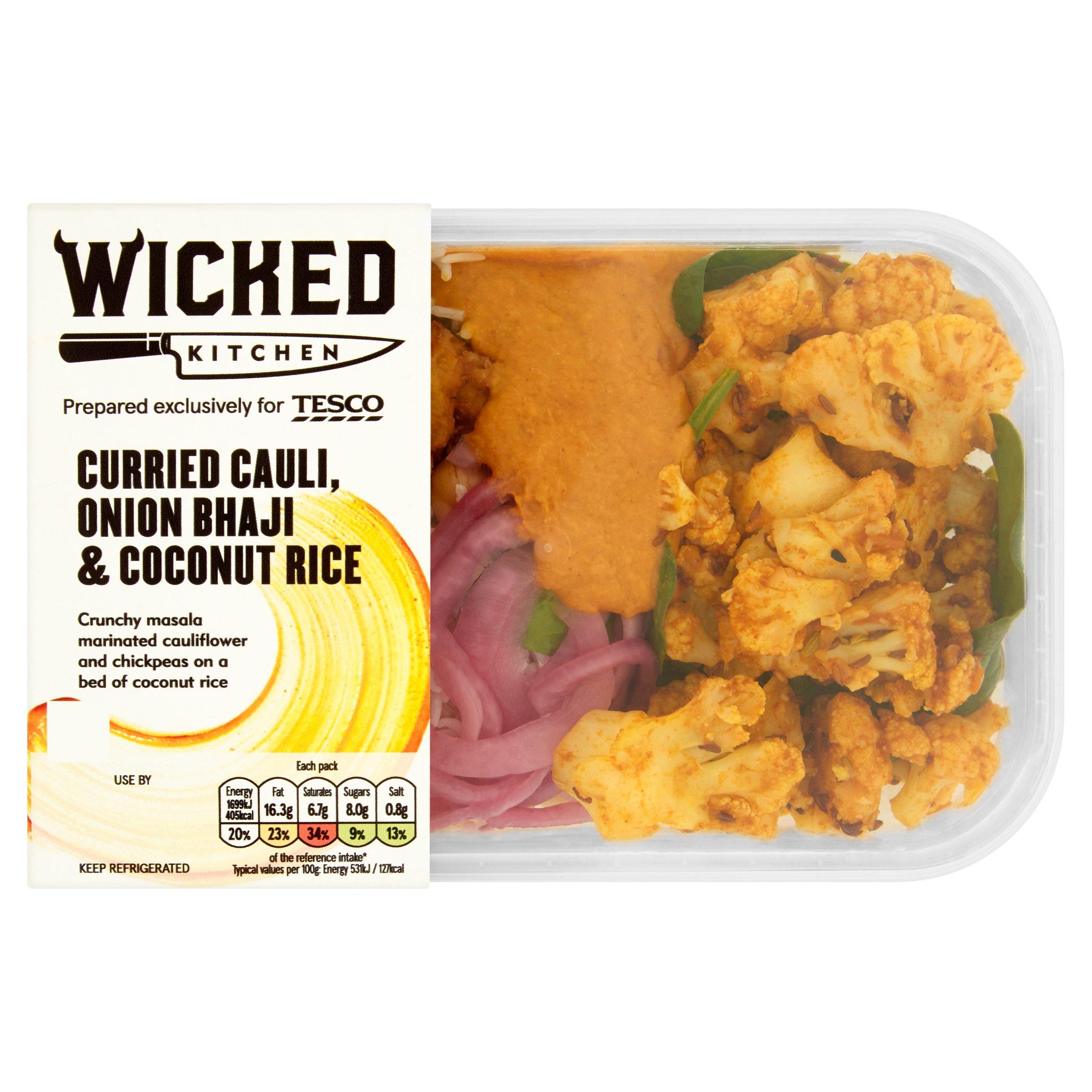Wicked Cauliflower Onion Bhaji Coconut Rice 345G