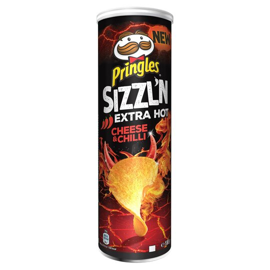 image 1 of Pringles Sizzl'n Extra Hot Cheese & Chilli 180G