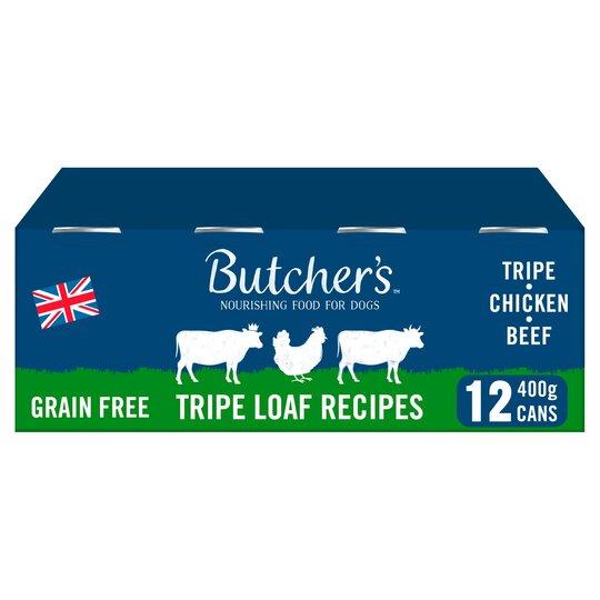 Butcher's Tripe Loaf Dog Food Tins 12X400g