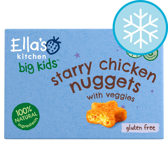 Ella's Kitchen Big Kids Starry Chicken Nuggets 200G