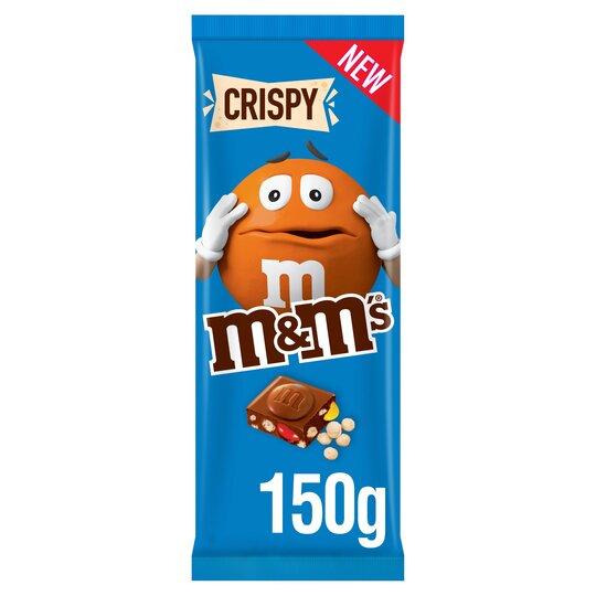 M M S Crispy Milk Chocolate Block 150g Tesco Groceries