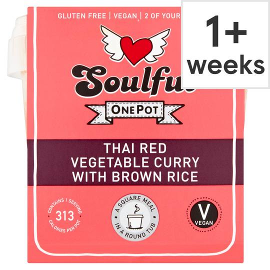 Soulful Thai Red Vegetable Curry With Brown Rice 380G
