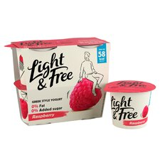 image 2 of Light & Free Greek Style Raspberry Yogurt 4X115g