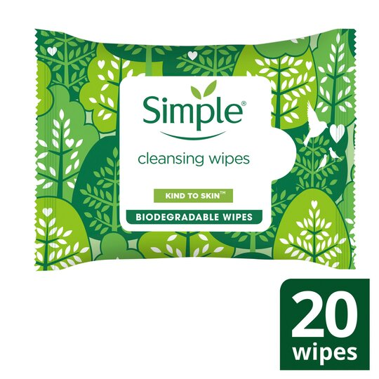 image 1 of Simple Biodegradable Cleansing Wipes 20'S