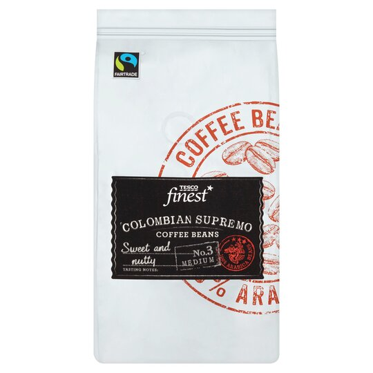 Tesco Finest Colombian Supremo Coffee Beans 227g