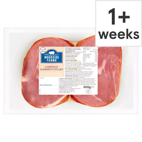 Woodside Farms Smoked Gammon Steaks 300G - Tesco Groceries