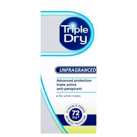 Triple Dry Antiperspirant Deodorant Roll-On 50Ml