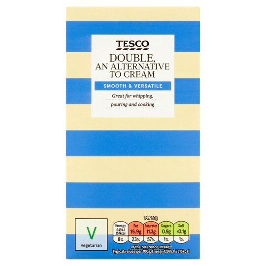 Tesco Long Life Double Cream Alternative 500g Tesco Groceries