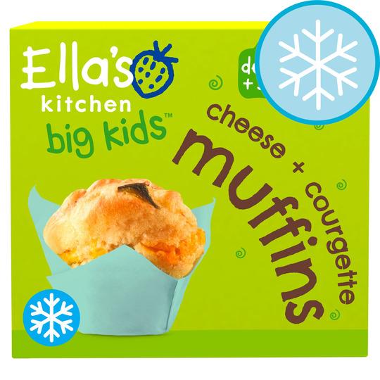 Ella's Kitchen Big Kids Cheese & Courgette Muffins 200G