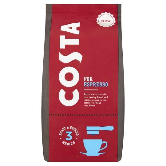 Costa Espresso Ground Coffee 200g Tesco Groceries
