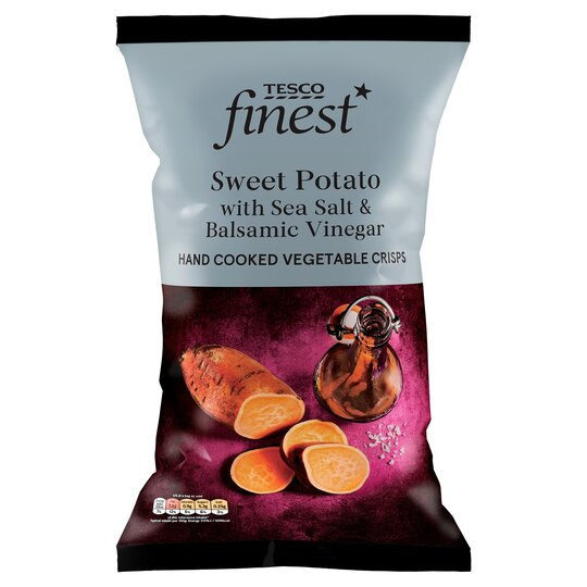 Tesco Finest Sweet Potato Crisps Plus Sea Salt Vinegar 125g