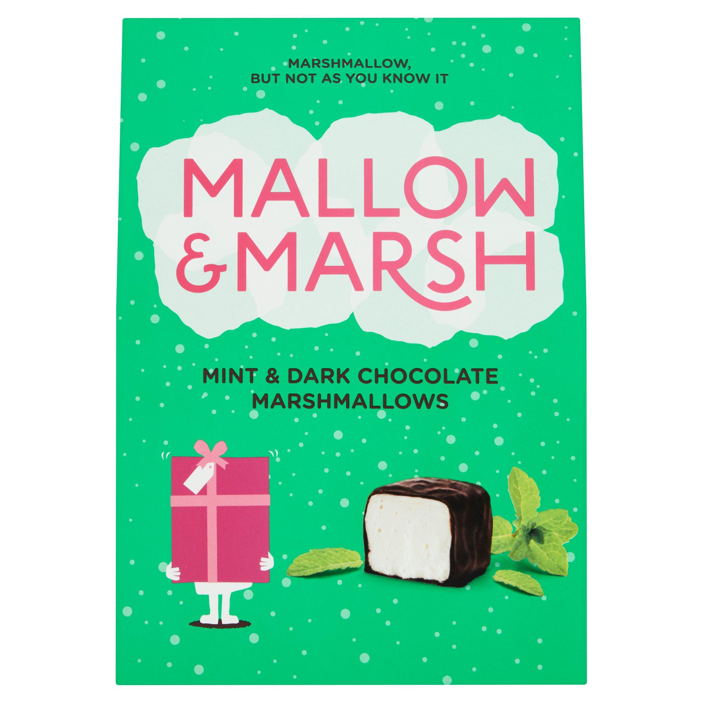 Mallow & Marsh Mint & Dark Chocolate Marshmallows 133G