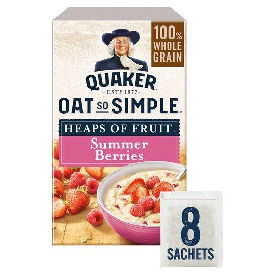 image 1 of Quaker Oat So Simple Summer Berries Porridge 8X35.3G