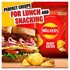 image 2 of Walkers Ready Salted Crisps 12 X 25G