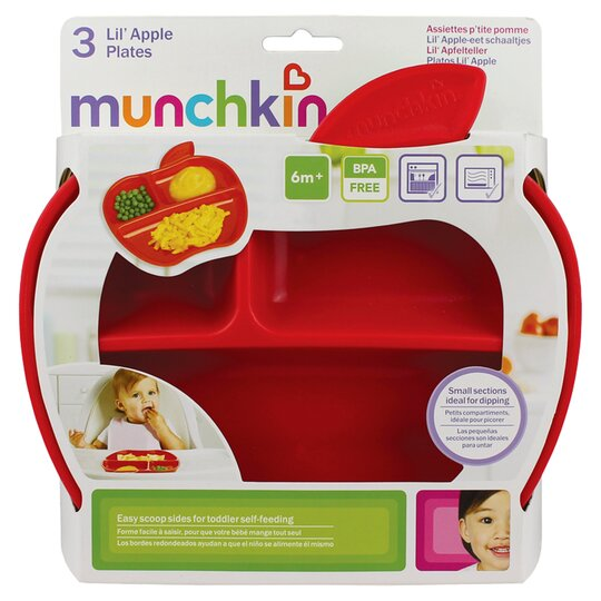 Munchkin Lil Apple Plates 3 Pack