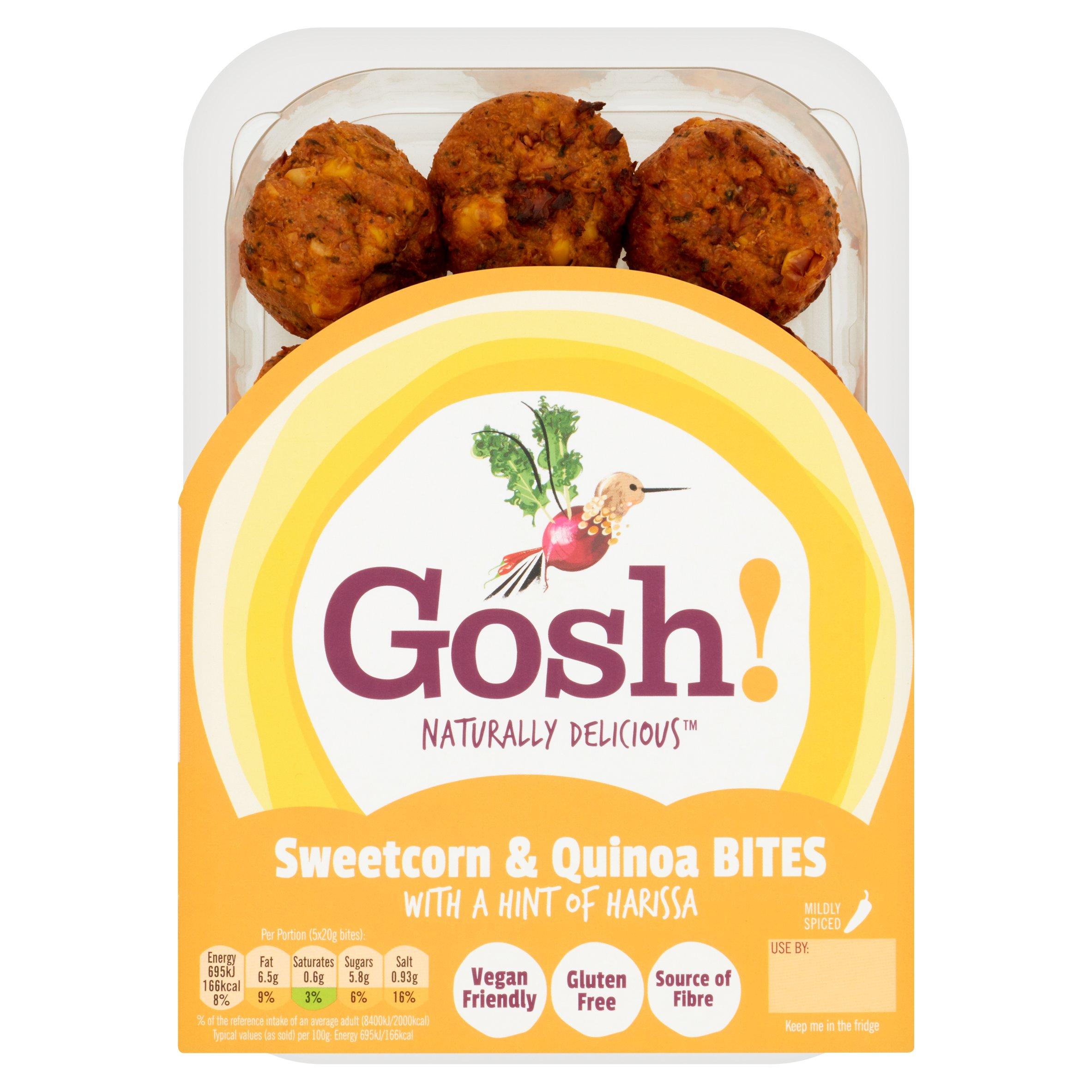 Gosh! Sweetcorn & Quinoa Bites 280G