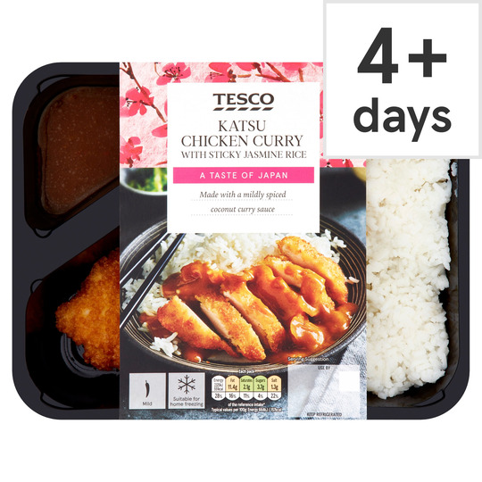 Tesco Katsu Chicken Curry With Sticky Jasmine Rice 350g