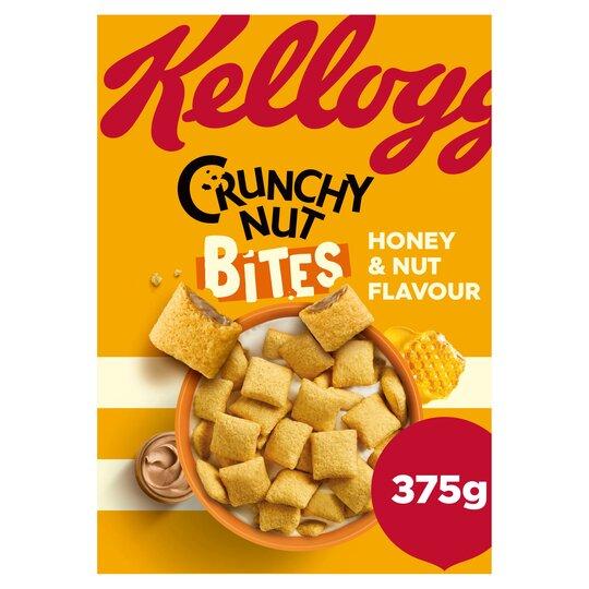 Kellogg's Crunchy Nut Bites Honey & Nut Flavoured 375G