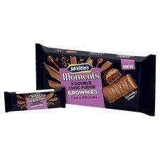 image 2 of Mcvities Moments 5 Double Chocolate Fudge Brownies