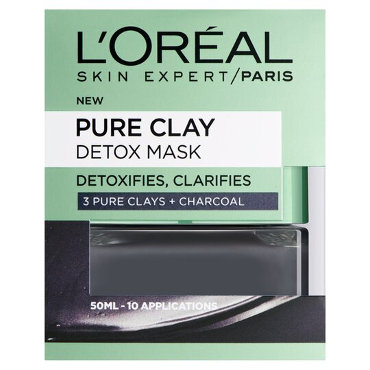 image 1 of L'oreal Pure Clay Detox Mask Black 50Ml
