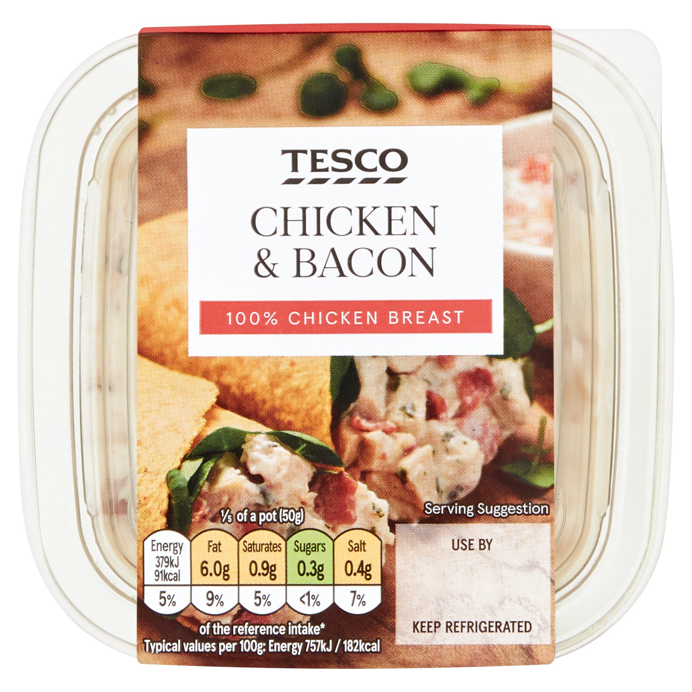 Tesco Chicken & Bacon Sandwich Filler 250G