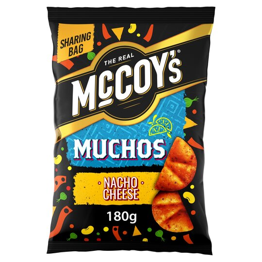 image 1 of Mccoy's Muchos Nacho Cheese Tortilla 180G
