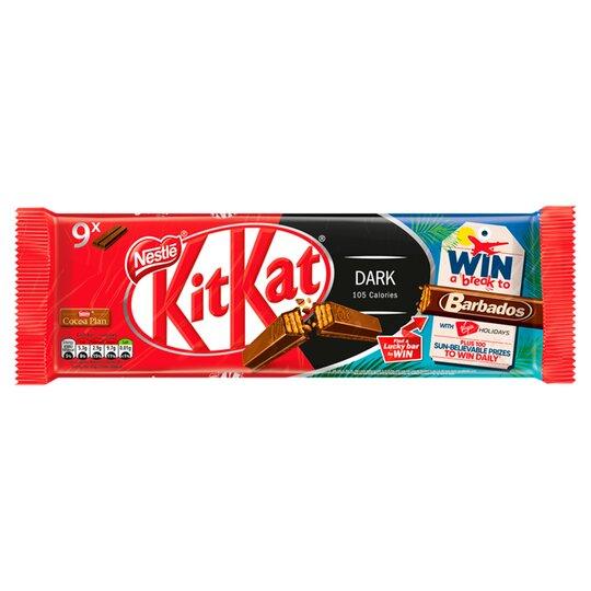 Kit Kat 2 Finger Dark Chocolate Biscuits 9 Pack 186.3G