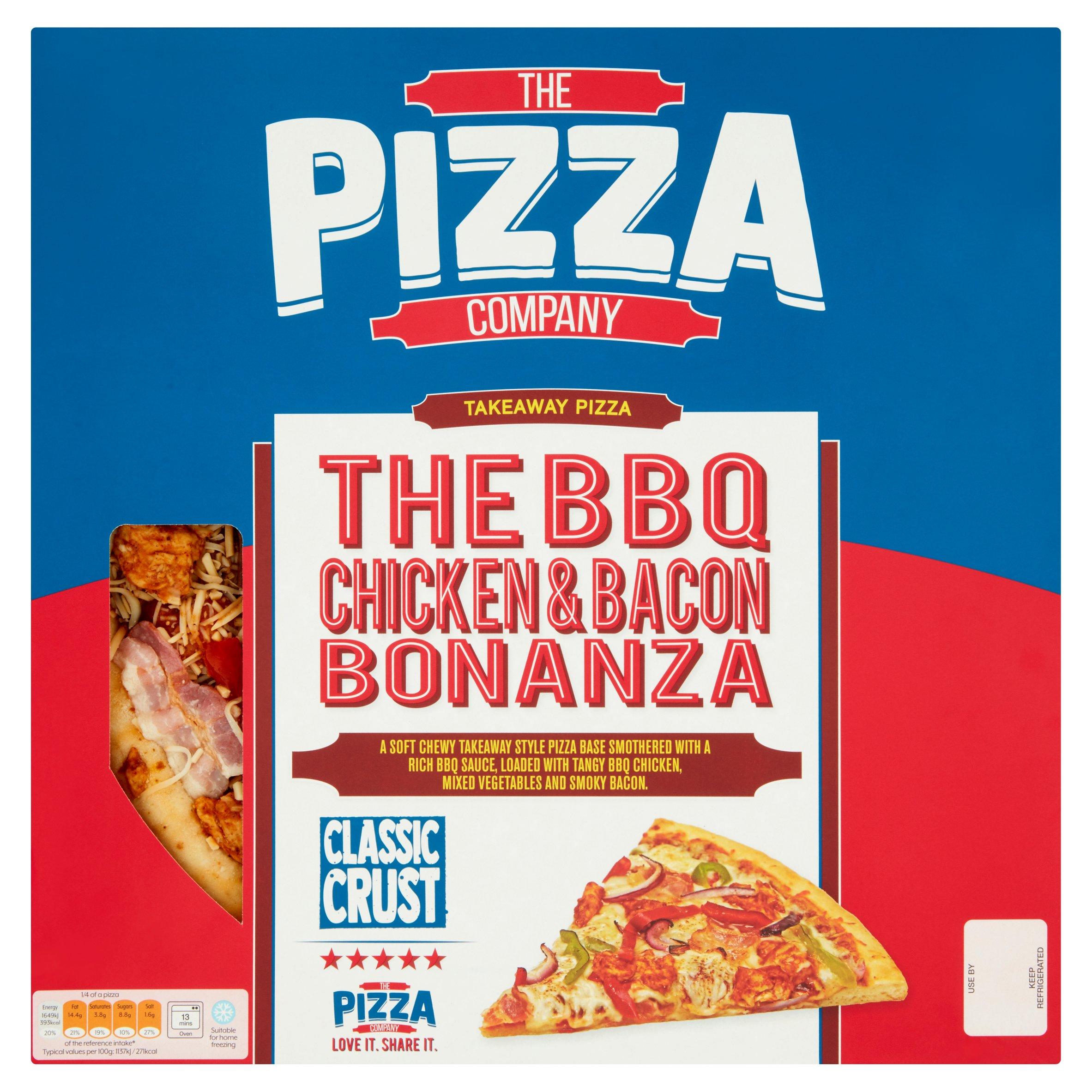 The Pizza Company Classic Crust Bbq Chicken Bonanza 583G
