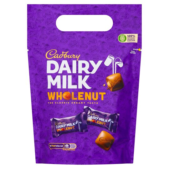 image 1 of Cadbury Dairy Milk Wholenut Pouch 350G