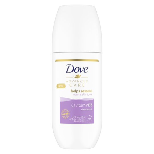 image 1 of Dove Advanced Care Clean Touch Roll On Antiperspirant Deodorant 100Ml