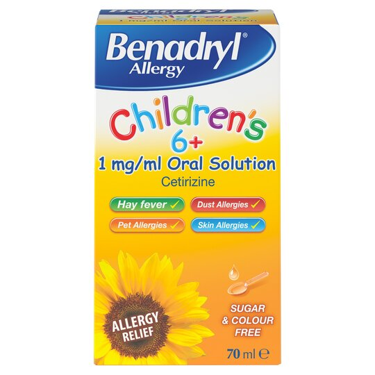 Benadryl Allergy Children's Oral 70 Ml
