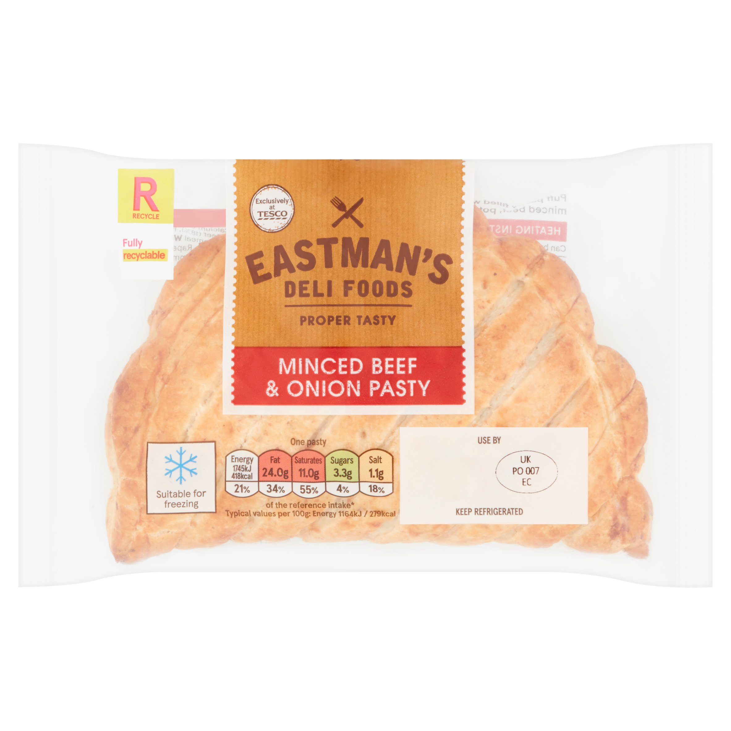 Eastmans Minced Beef & Onion Pasty 150G