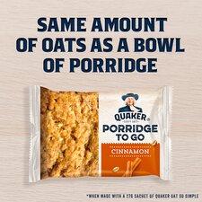 image 2 of Quaker Porridge To Go Cinnamon Bar 2X55g