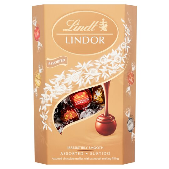 Lindt Lindor Assorted Chocolate Truffle Carton 337g