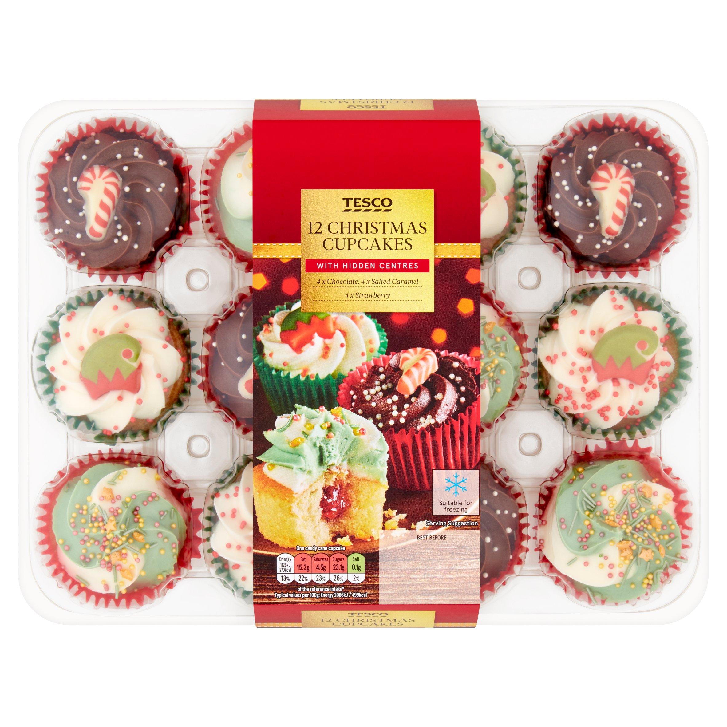 Tesco 12 Christmas Cupcake Platter