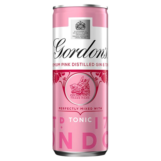 image 1 of Gordon's Pink Gin & Tonic Premix 250Ml