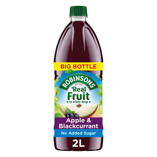image 1 of Robinsons Apple & Blackcurrant No Added Sugar Squash 2L