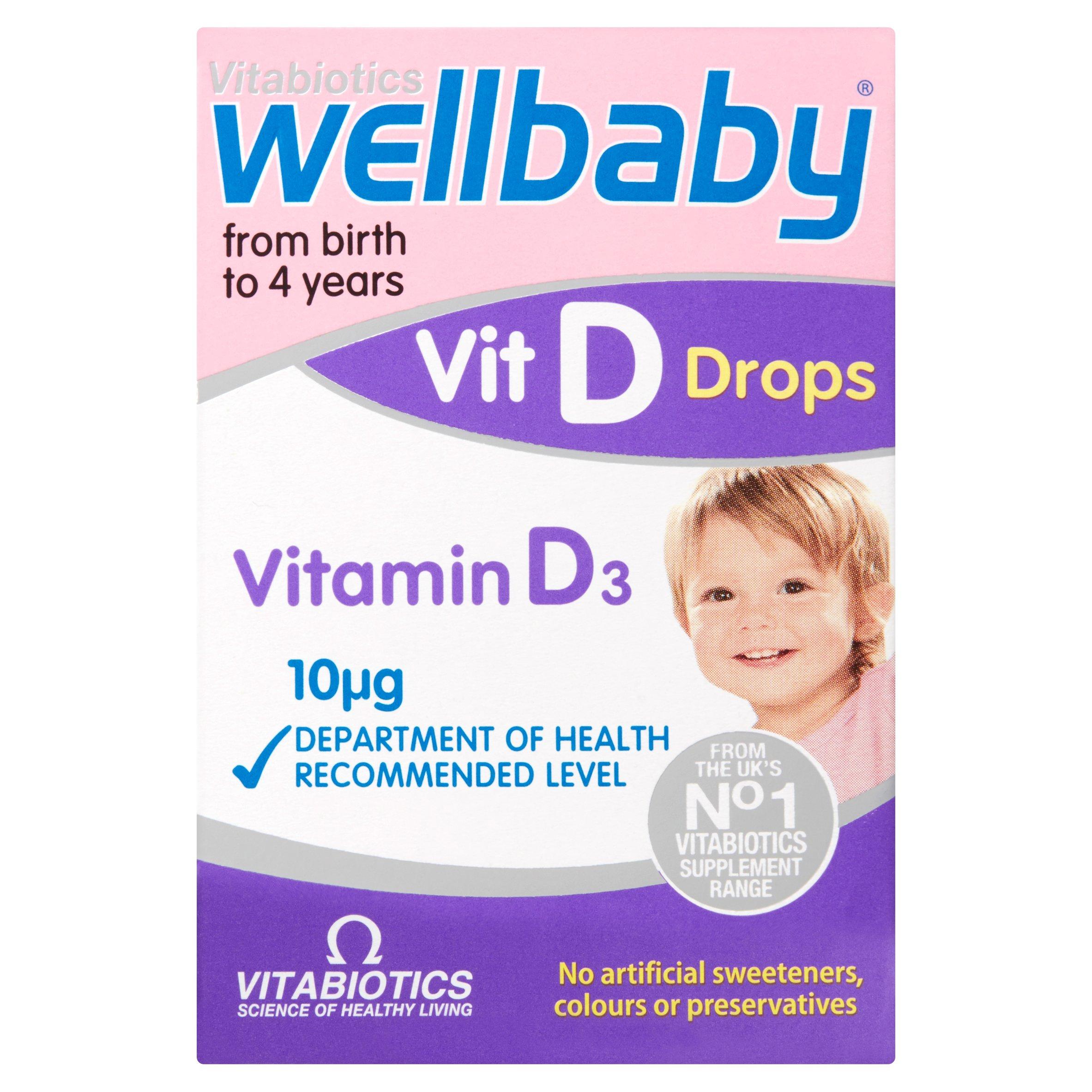 Wellbaby Vitamin D Drops 30Ml