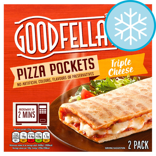 Goodfella's Pizza Pockets Triple Cheese 2 Pack 250G