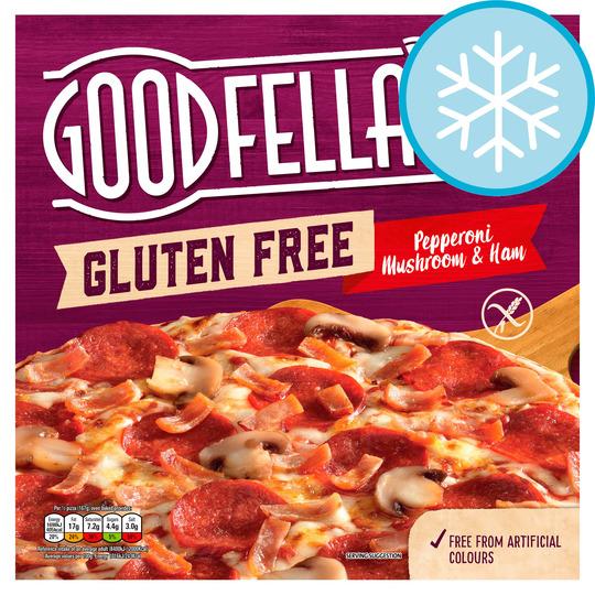 G/Fella Gluten Free Pepperoni Mushroom & Ham Pizza 349G