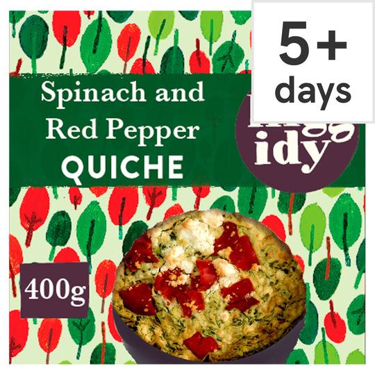 Higgidy Spinach Feta Red Pepper Quiche 400G